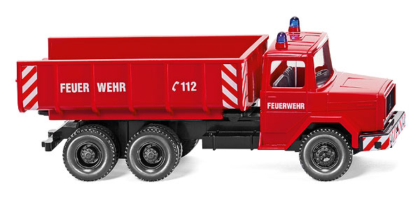 062402 - Wiking Model Fire Service 1971 Magirus Deutz Dumper Truck