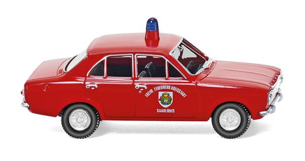 086130 - Wiking Model Saarlouis Fire Service Ford Escort Service Vehicle