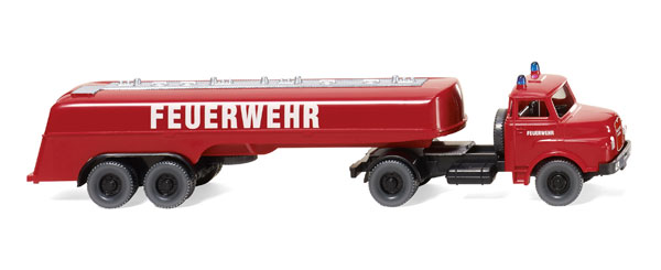 086142 - Wiking Model Fire Service 1969 MAN Large Tanker Truck