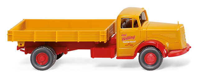 089505 - Wiking Model Mercedes Benz L6600 Flatbed Dump Truck