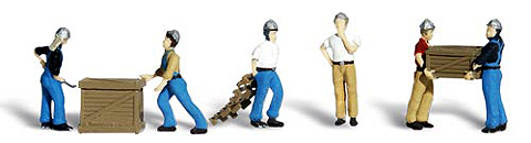 A1823 - Woodland Scenics Scenic Accents Dock Workers HO Scale ABS