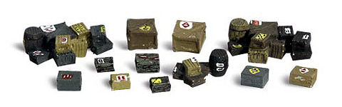 A1855 - Woodland Scenics Scenic Accents Crates HO Scale ABS Lightweight