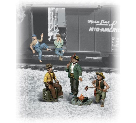 A1860 - Woodland Scenics Scenic Accents Hobos HO Scale ABS Lightweight