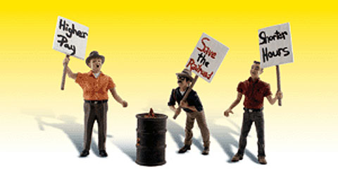 A2557 - Woodland Scenics Scenic Accents Striking Picketers G Scale ABS