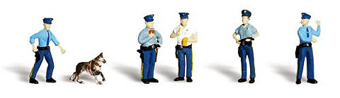 A2736 - Woodland Scenics Scenic Accents Policemen O Scale ABS