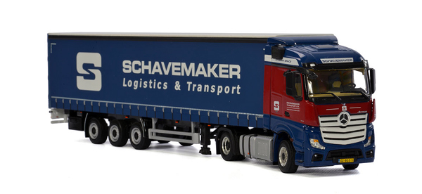 01-2037 - WSI Model Schavemaker Mercedes Benz Actros MP4 StreamSpace Tractor