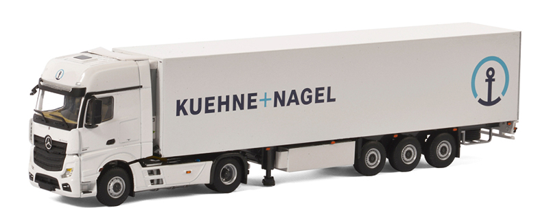 01-2153 - WSI Model Kuehne_Nagel Mercedes Benz Actros MP4 Giga Space