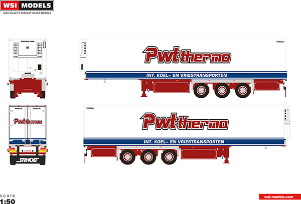 01-2639 - WSI Model PWT Thermo 3 Axle Reefer Trailer