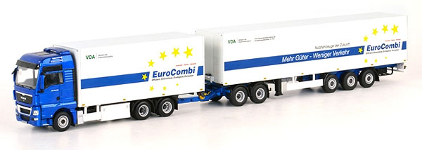 04-1076 - WSI Model MAN TGX XXL Euro Combi Truck and