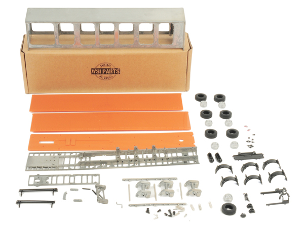 10-1043 - WSI Model Curtainside Trailer Model Kit