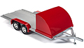AMERICAN MUSCLE - 1167 - Car Trailer in Red